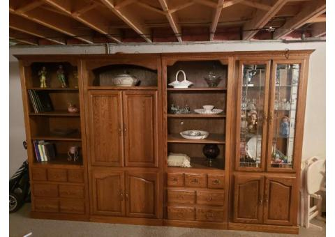 4 peice wall unit